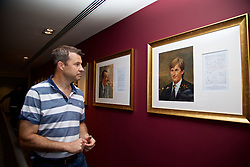 LIVERPOOL, ENGLAND - Sunday, June 18, 2017: Barry Cowan on a visit Anfield during Day Four of the Liverpool Hope University International Tennis Tournament 2017. (Pic by David Rawcliffe/Propaganda)