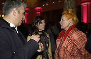 "Rifat Ozbec, Vivienne Westwood and Bella Freud. The private views for Anna Piaggi's exhibition ""Fashion-ology"" and also 'Popaganda: the life and style of JC de Castelbajacat' the Victoria & Albert Museum on January 31  2006. © Copyright Photograph by Dafydd Jones 66 Stockwell Park Rd. London SW9 0DA Tel 020 7733 0108 www.dafjones.com"