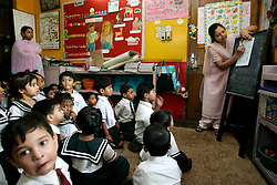 BANGLADESH CHITTAGONG 9MAR05 - Nursery class for 4-5 year-olds at Bay View private School in Chittagong. The school, directed by Mrs Mendes, is one of the best providing high quality secondary education in Bangladesh...jre/Photo by Jiri Rezac..© Jiri Rezac 2005..Contact: +44 (0) 7050 110 417.Mobile:  +44 (0) 7801 337 683.Office:  +44 (0) 20 8968 9635..Email:   jiri@jirirezac.com.Web:    www.jirirezac.com..© All images Jiri Rezac 2005 - All rights reserved.