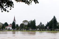 Cemetery Vic Ljubljana flooded after heavy rain on September 18, 2010, in Ljubljana, Slovenia. (Photo by Matic Klansek Velej / Sportida)