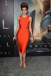 """Blanca Blanco, at the """"Arrival"""" Los Angeles Premiere, Village Theater, Westwood, CA 11-06-16.com 818-249-4998. EXPA Pictures © 2016, PhotoCredit: EXPA/ Avalon/ Martin Sloan<br /> <br /> *****ATTENTION - for AUT, SLO, CRO, SRB, BIH, MAZ, SUI only*****"""