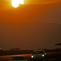 13-15, July 2006, Salt Lake City, Utah, USA.<br /> Porsche 911 GT RSRs of Rockenfeller/Graf and Bergmeister/Long.<br /> &copy;&nbsp;Phillip Abbott/USA<br /> LAT Photographic