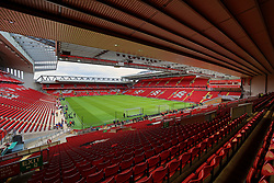 LIVERPOOL, ENGLAND - Sunday, March 31, 2019: A general view of Anfield from the Spion Kop before the FA Premier League match between Liverpool FC and Tottenham Hotspur FC at Anfield. (Pic by David Rawcliffe/Propaganda)