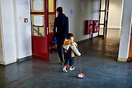 Children guests of the Temporary accommodation center for immigrants in Athens, at Olimpico hockey in the area Elliniko 10 Febraury 2016.<br />