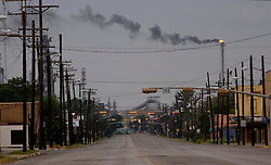 23rd Sept, 2005. Hurricane Rita, Port Arthur, Texas. Houston Ave. The deserted streets of downtown Port Arthur, evacuated by almost all residents.