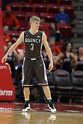 29 December 2014:   Nate Des Jardins during an NCAA non-conference interdivisional exhibition game between the Quincy University Hawks and the Illinois State University Redbirds at Redbird Arena in Normal Illinois.