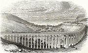 Brighton, Lewes and Hastings Railway: Viaduct across the Preston Road, Brighton, changing and dominating the landscape.   From 'The Illustrated London News', London, 13 June 1846.