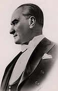 Mustafa Kemel Ataturk (1881-1938) Turkish statesman, leader of Turkish nationalist movement from 1909. Responsible for modernisation of Turkey. President 1923-1928. Photograph.