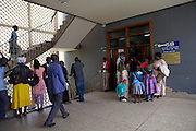 A busy stair well in Mulago hospital. <br /> <br /> Much is written about the number of babies born at Mulago National Referral Hospital – around 30,000 a year which averages between 80 and 85 every day. <br /> <br /> The pressure this puts on the hospital, which has bed capacity for fewer than half this number, is intensive. Yet much of this pressure could be eased if the capacity of smaller hospitals and health centres was developed.