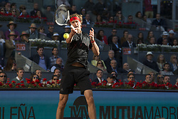 May 13, 2018 - Madrid, Madrid, Spain - ALEXANDER ZVEREV in a match against DOMINIC THIEM during the final of Mutua Madrid Open 2018 - ATP in Madrid. (Credit Image: © Patricia Rodrigues via ZUMA Wire)
