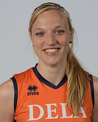 21-05-2014 NED: Selectie Nederlands volleybal team vrouwen, Arnhem<br /> Op Papendal werd het Nederlands team volleybal seizoen 2014-2015 gepresenteerd / Judith Pietersen