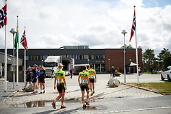 Alé Cipollini make their way to sign on at Ladies Tour of Norway 2018 Stage 1, a 127.7 km road race from Rakkestad to Mysen, Norway on August 17, 2018. Photo by Sean Robinson/velofocus.com
