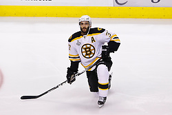 June 15, 2011; Vancouver, BC, CANADA; Boston Bruins center Patrice Bergeron (37) warms up before game seven of the 2011 Stanley Cup Finals against the Vancouver Canucks at Rogers Arena. Boston defeated Vancouver 4-0. Mandatory Credit: Jason O. Watson / US PRESSWIRE