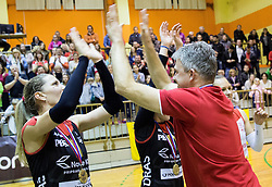 Bruno Najdic, head coach of Nova KBM Branik after winning during volleyball match between Nova KBM Branik Maribor and OK Luka Koper in Final of Women Slovenian Cup 2014/15, on January 18, 2015 in Sempeter v Savinjski dolini, Slovenia. Photo by Vid Ponikvar / Sportida