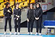 The staff of the Italian national rhythmic gymnastics team. Chiara Ianni, Federica Bagnera, Olga Tishina.