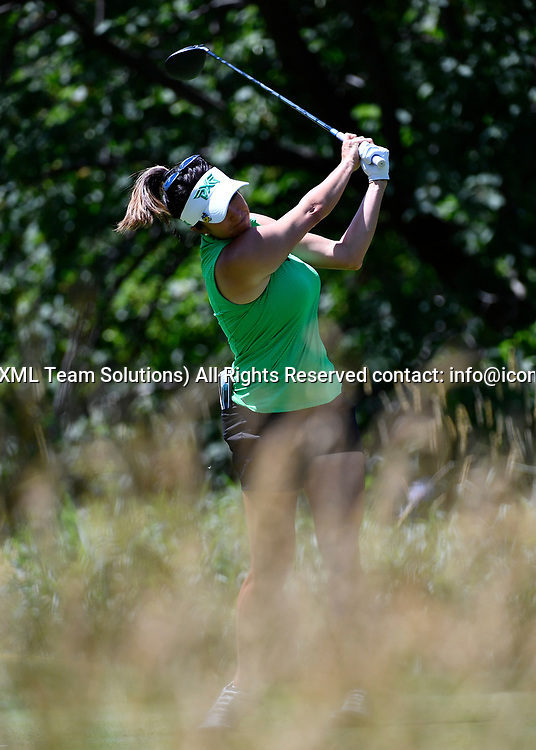 OLYMPIA FIELDS, IL - JULY 01: Gerina Piller plays the ball from the fifth tee during the third round of the 2017 KMPG PGA Championship at Olympia Fields on July 1, 2017 in Olympia Fields, Illinois. (Photo by Quinn Harris/Icon Sportswire)