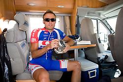 Uros Murn (SLO) of Adria Mobil before start of the 4th stage of Tour de Slovenie 2009 from Sentjernej to Novo mesto, 153 km, on June 21 2009, Slovenia. (Photo by Vid Ponikvar / Sportida)