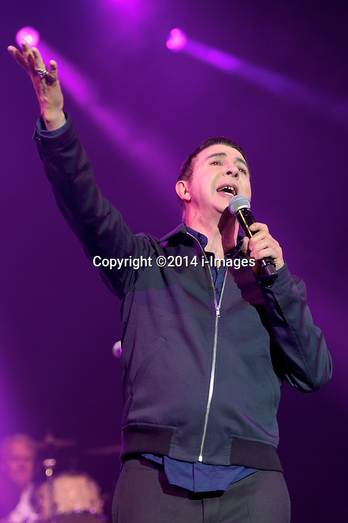 Image ©Licensed to i-Images Picture Agency. 04/07/2014. Oxford, United Kingdom. Cornbury Festival. Jools Holland Rhythm and Blues Orchestra plus guest Marc Almond (pictured) perform at Cornbury Music Festival. Picture by i-Images