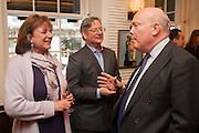 ROSA MONCKTON; DOMINIC LAWSON; JULIAN FELLOWES, Vanity Fair Lunch hosted by Graydon Carter. 34 Grosvenor Sq. London. 14 May 2013