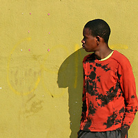 Africa, Namibia, Windhoek. A young local of Katutura township in Windhoek, Namibia.
