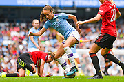 Manchester City Women forward Tessa Wullaert (25) in action during the FA Women's Super League match between Manchester City Women and Manchester United Women at the Sport City Academy Stadium, Manchester, United Kingdom on 7 September 2019.
