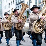 Austrian band in Stephansdom in Vienna, Austria