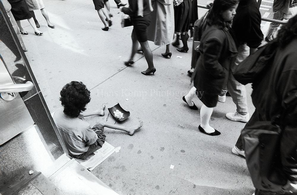 A beggar in Central District, Hong Kong 1991