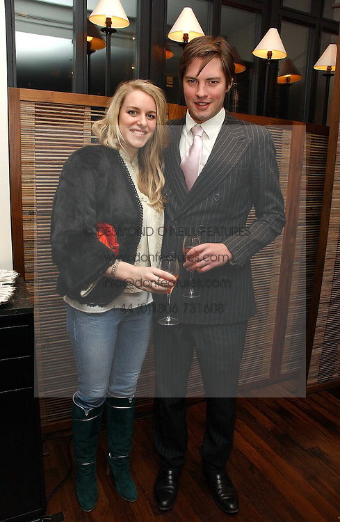 HATTY & LAURA LOPES at a St.Valentine's dinner hosted by Ruinart champagne at Tom Aikens Restaurant, Elystan Street, London on 6th February 2007.<br />