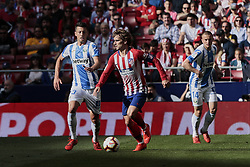 March 9, 2019 - Madrid, Madrid, Spain - Atletico de Madrid's Antoine Griezmann and CD Leganes's Mikel Vesga during La Liga match between Atletico de Madrid and CD Leganes at Wanda Metropolitano stadium in Madrid. (Credit Image: © Legan P. Mace/SOPA Images via ZUMA Wire)