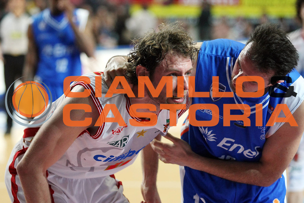 DESCRIZIONE : Varese Lega A2 2008-09 Cimberio Varese Enel Brindisi<br /> GIOCATORE : Giacomo Galanda Sotirios Gkioulekas<br /> SQUADRA : Cimberio Varese Enel Brindisi<br /> EVENTO : Campionato Lega A2 2008-2009 <br /> GARA : Cimberio Varese Enel Brindisi<br /> DATA : 09/04/2009<br /> CATEGORIA : Rimbalzo Fair Play<br /> SPORT : Pallacanestro <br /> AUTORE : Agenzia Ciamillo-Castoria/G.Cottini