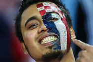 A Croatia fan before the International Friendly match against Argentina at the Boleyn Ground, London<br /> Picture by David Horn/Focus Images Ltd +44 7545 970036<br /> 12/11/2014