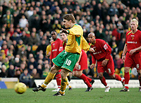 Paul McVeigh scores a penalty.<br /> Norwich City v Watford, Cocal Cola Championship, 21/01/06. Photo by Barry Bland
