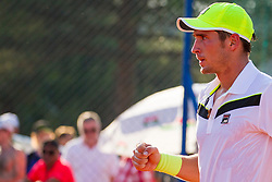 Dusan Lajovic (SRB) during a tennis match against the Laslo Djere (SRB) in first round of singles at 26. Konzum Croatia Open Umag 2015, on July 22, 2015, in Umag, Croatia. Photo by Urban Urbanc / Sportida