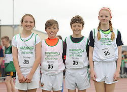 Burrishoole Mixed U13 Relay winners Emily Chambers, Niall McGreal, Cathal Breslin Kayleigh McLoughlin at the Mayo Community Games.<br /> Pic Conor McKeown