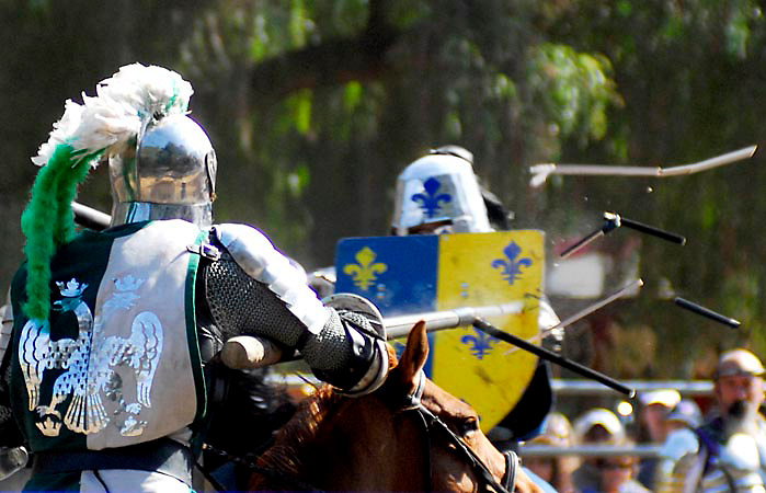 Jousting tournament at the Northern California Renaissance Faire.