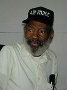 James Meredith, 69 yrs. old poses inside his office at his auto repair shop in JacksonMS. Wednesday September 25, 2002, just days before the  40th anniversary of desegregation on the campus of Olde Miss University in Oxford,MS. James Meredith was the first african american student enrolled at the university, he was 28 at the time. He later went on to law school at columbia university in New york city.(Photo Suzi Altman)