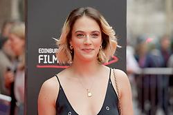 "Jessica Brown Findlay, on the red carpet at the Edinburgh International Film Festival world Premier of ""England is Mine"" at Edinburgh's Festival Theatre. Sunday, 2nd July, 2017(c) Brian Anderson   Edinburgh Elite media"