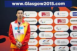 WANG Yinan CHN at 2015 IPC Swimming World Championships -  Men's 400m Freestyle S8