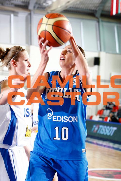 DESCRIZIONE : Valmiera Latvia Lettonia Eurobasket Women 2009 Italia Israele Italy Israel<br /> GIOCATORE :  Laura Macchi<br /> SQUADRA : Italia Italy<br /> EVENTO : Eurobasket Women 2009 Campionati Europei Donne 2009 <br /> GARA : Italia Israele Italy Israel<br /> DATA : 08/06/2009 <br /> CATEGORIA : tiro<br /> SPORT : Pallacanestro <br /> AUTORE : Agenzia Ciamillo-Castoria/E.Castoria<br /> Galleria : Eurobasket Women 2009 <br /> Fotonotizia : Valmiera Latvia Lettonia Eurobasket Women 2009 Italia Israele Italy Israel<br /> Predefinita :