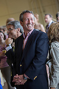 Former Republican Governor Mark Sanford smiles during the Charleston Area Chamber of Commerce's Pork and Politics on April 30, 2013 in Charleston, South Carolina.