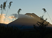 Mt Ngauruhoe (2291 metres or 7516 feet elevation) last erupted in 1975 in Tongariro National Park, North Island, New Zealand. In 1990 and 1993, UNESCO honored Tongariro National Park as a World Heritage Area and Cultural Landscape.