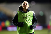 Manchester City defender  Gemma Bonner (4) during the FA Women's Super League match between Manchester City Women and Everton Women at the Sport City Academy Stadium, Manchester, United Kingdom on 20 February 2019.
