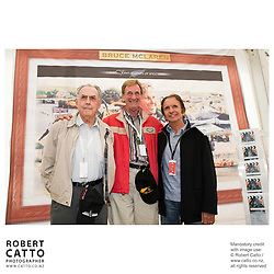 Sir Jack Brabham;Phil Kerr;Emerson Fittipaldi at the Launch of the Bruce McLaren Movie project at the A1 Grand Prix of New Zealand at the Taupo Motorsport Park, Taupo, New Zealand.