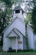 Old wooden one-room Church, Philo, in the Anderson Valley, Mendocino County, California