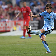 Bruno Zuculini, Manchester City, in action during the Manchester City Vs Liverpool FC Guinness International Champions Cup match at Yankee Stadium, The Bronx, New York, USA. 30th July 2014. Photo Tim Clayton