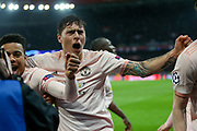 Manchester United Defender Victor Lindelof celebrates during the Champions League Round of 16 2nd leg match between Paris Saint-Germain and Manchester United at Parc des Princes, Paris, France on 6 March 2019.