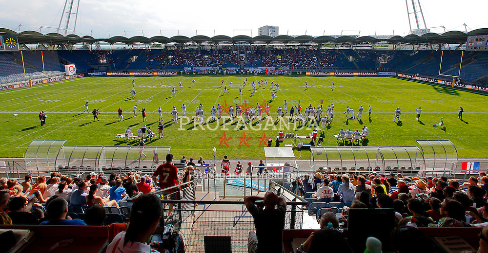 11.07.2011, UPC Arena, Graz, AUT, American Football WM 2011, Group B, Frankreich (FRA) vs Japan (JPN), im Bild game in the upc arena soccer stadium// during the American Football World Championship 2011 Group B game, France vs Japan, at UPC Arena, Graz, 2011-07-11, EXPA Pictures © 2011, PhotoCredit: EXPA/ E. Scheriau