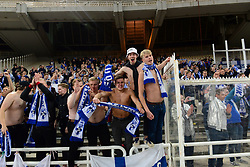 November 16, 2018 - Athens, Attiki, Greece - Supporters of Finland in OACA stadium. (Credit Image: © Dimitrios Karvountzis/Pacific Press via ZUMA Wire)