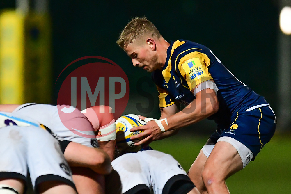 Michael Dowsett of Worcester Cavaliers puts in at the scrum - Mandatory by-line: Craig Thomas/JMP - 23/10/2017 - RUGBY - Sixways Stadium - Worcester, England - Worcester Cavaliers v Wasps - Aviva A League