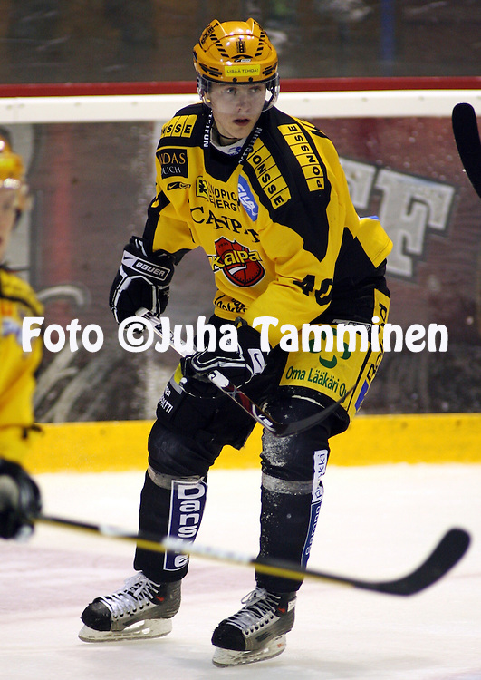 04.10.2008, Isom?en halli, Pori..J??kiekon SM-liiga 2008-09..?ss?t -KalPa.Mikko Kukkonen - KalPa.©Juha Tamminen.....ARK:k